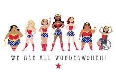Nous sont tous les Wonderwomen impression 11 par SatrunTwinsArtShop