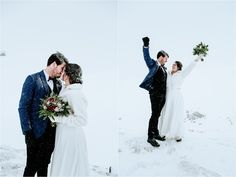 Anna & Jon celebrate their marriage by cheering. Photos by Wild Connections Photography Snow Wedding, Dream Wedding, Wedding Day, Got Married, Getting Married, Emotional Support Animal, Winter Wedding Inspiration, Intimate Weddings, Outdoor Ceremony