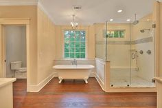 Plan  36064DK: This shower is great!  The style of this house is beautiful.  The floorplan will work for us!