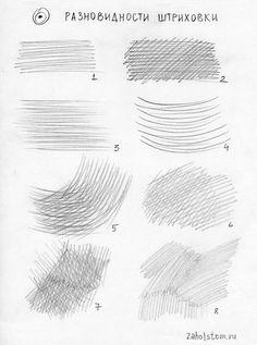 Виды штриховки в рисунке – Keep up with the times. Pencil Shading Techniques, Sketching Techniques, Art Techniques, Shading Drawing, Basic Drawing, Drawing Skills, Pencil Art Drawings, Art Drawings Sketches, Geometric Drawing