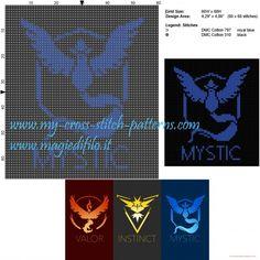 Schema punto croce Team Mystic (Pokemon Go)