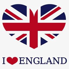 British flag, I Love Britain, England, Creative Flags PNG Image