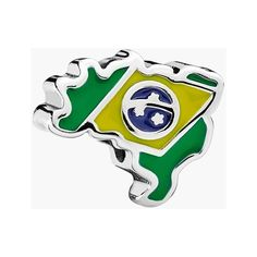PANDORA 'Brazil' Bead Charm (190 BRL) ❤ liked on Polyvore featuring jewelry, pendants, beading jewelry, pandora charms, beads jewellery, pandora jewelry y charm pendant