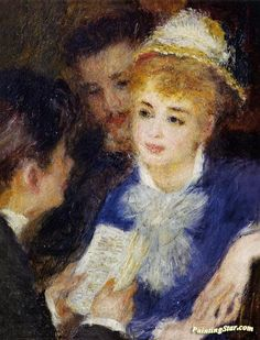 Reading the Part Artwork by Pierre Auguste Renoir Hand-painted and Art Prints on canvas for sale,you can custom the size and frame