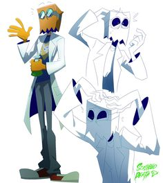 """scribbled-death: """" you: falls for Black Hat me an intellectual: falls for the science nerd Flug """""""