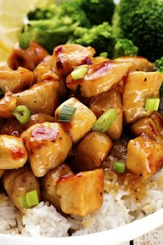 HONEY LEMON GINGER CHICKEN From The Recipe Critic is Number 20 on our list :: Click HERE for the RECIPE A light and delicious meal that is full of amazing honey lemon ginger flavor that the family will love! #lemon #chicken #asian #chinese #lemon #garlic #easy #dinner #recipe