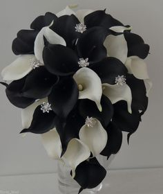 Black silver and White Flower Bouquets calla lily | 1000x1000.jpg
