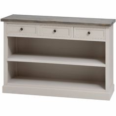 Mushroom Grey Painted Low Bookcase – Allissias Attic