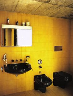 Mario Botta, Casa Bianchi, Bathroom, 1971-1973