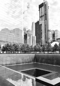 Memorial Pool New York City' Framed Print by ZoeCalvert Creative Memories, Willis Tower, New York City, Skyscraper, Bubble, Multi Story Building, Scrapbooking, Framed Prints, Travel