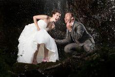 Waterfall wedding - From a fun wedding in the summer