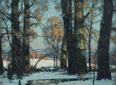 """Afternoon Glow,"" John Fabian Carson, oil on canvas, 18-1/4 x 24"", Springville Museum of Art."