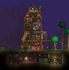 Terraria House Design, Terraria House Ideas, Terraria Tips, Minecraft Funny, Minecraft Pixel Art, Video Game Art, Video Games, Skullgirls, Cool Art
