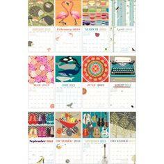 2013 Paper Source Art Grid Calendar