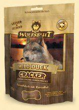 4 x 225g Wolfsblut Cracker Wild Duck getreidefreie Hundekekse mit 42% Geflügel von der Ente