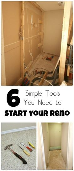 The simple tools you need to get started on a renovation and see what's behind those walls! Great tips for first time demo!
