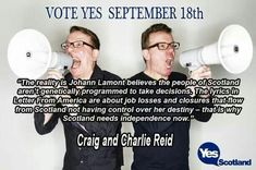 The Proclaimers on Scottish Independence - VOTE YES!!