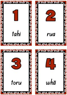 Number cards to teach and learn Māori number words to Printable and free. School Resources, Teaching Resources, Maori Songs, Waitangi Day, Learning Cards, Number Words, Maori Art, Classroom Displays, Classroom Ideas