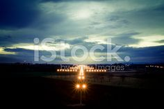 Landing strip13 lights neon pinterest landing strip view on navigation lights at dusk royalty free stock photo mozeypictures Image collections