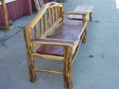 rustic cedar bench - Google Search