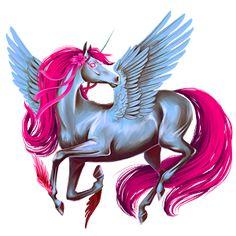 Magical Creatures, Fantasy Creatures, Beautiful Creatures, Unicorn Art, Magical Unicorn, Pegasus, Horse Cards, Winged Horse, Fantasy Girl