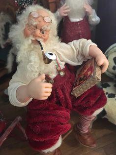 Miniature Collection 1/12 Clover 3, Tiny World, Polymer Clay Dolls, Christmas Time, Xmas, Dollhouse Miniatures, Art Dolls, Santa, Suspenders