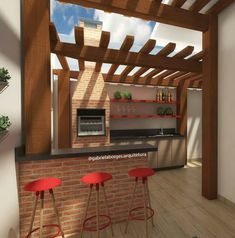Parrilla Exterior, Bbq Hut, Outdoor Bbq Kitchen, Wood Entry Doors, Barbecue Grill, Home Decor Bedroom, Home Renovation, Outdoor Living, Sweet Home