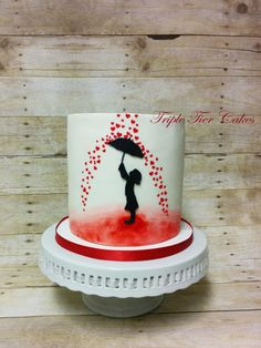 Valentine's themed cake by Triple Tier Cakes