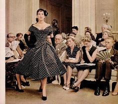 """Dior dress in """"Life"""", 9/6 1954"""
