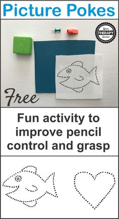 Picture Pokes Freebie to Strengthen Fine Motor Skills – Your Therapy Source – Linda Casey – art therapy activities Fine Motor Activities For Kids, Motor Skills Activities, Gross Motor Skills, Preschool Activities, Fine Motor Activity, Preschool Fine Motor Skills, Morning Activities, Time Activities, Infant Activities