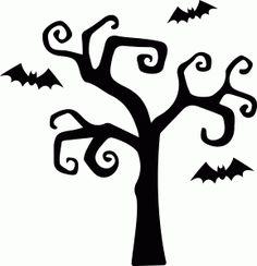 Silhouette Design Store - View Design #66864: haunted halloween tree