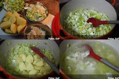 Cómo hacer la receta de porrusalda con bacalao Fresh Rolls, Guacamole, Mexican, Fish, Ethnic Recipes, Recipes With Vegetables, Soups, Cod, How To Make