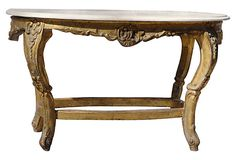 French Gilt Limestone Coffee Table on OneKingsLane.com