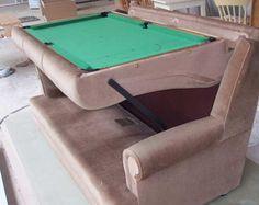 Sofa turns into a pool table