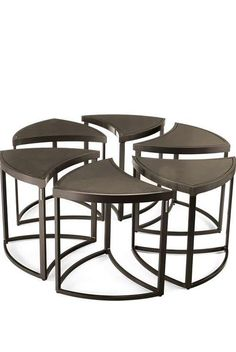 With it's individual pieces that serve as six smaller tables or fit perfectly together to create a larger coffee table, the 6-pc. Wedge Table is truly a unique piece that is perfect for all your outdoor entertaining needs.