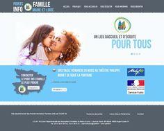 Réalisation Site Internet - Points Info Familles du Maine et Loire - http://www.points-info-famille-49.fr