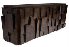 Playfull Artistic Wooden Sideboard