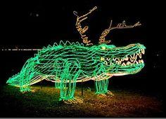 In City Park Santa's sleigh is pulled cajun style by alligators instead of reindeer.