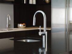 Align chrome one-handle high arc pulldown bar faucet - 5965 - Moen