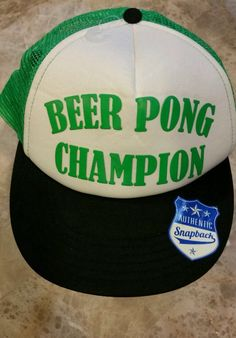 Beer Pong Champion Snap Back Hat Beer Pong by AllThingsGeekChic