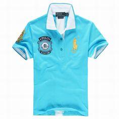 polo ralph lauren discount Women\u0026#39;s USRL 1967 Short Sleeve Polo Shirt Blue http://