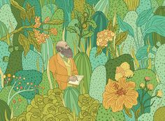 The Seeds That Sowed a Revolution. Illustration by Gaby D'Alessandro. #biology…