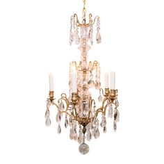 French Antique Louis XV Style Bronze Chandelier