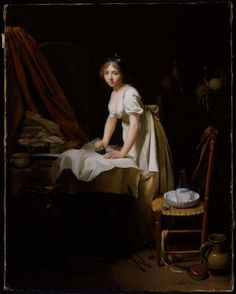 Louis Lépold Boilly Young Woman Ironing about 1800-03 Museum of Fine Arts, Bosto