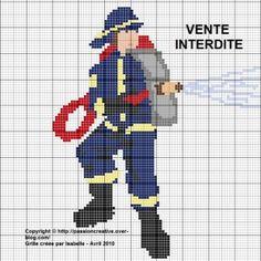 grille de point de croix sur les pompiers pinterest - Pesquisa do Google