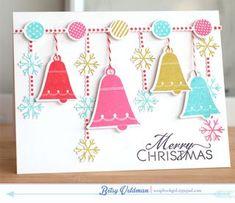 Bells & Boughs Revisited - Bright Bells Card by Betsy Veldman for Papertrey Ink (December 2013)