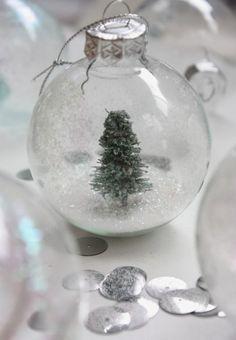 DIY Snow Globe Christmas Ornament | Shelterness