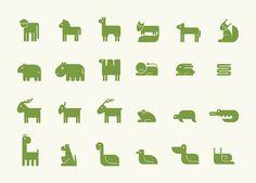 Identity and signage for Riga Zoo by Maija Gadzāne, via Behance Zoo Signage, Zoo Logo, Icon Design, Logo Design, Animal Templates, Environmental Graphic Design, Book Projects, Animal Logo, Linocut Prints
