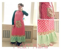Floor length apron - this would be perfect for spinning!