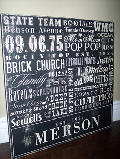 I ordered one of these for our kitchen and chose all kinds of significant words that were special to our family. Everyone who comes over always mention how unique it is, so here's a good way to show where it came from!